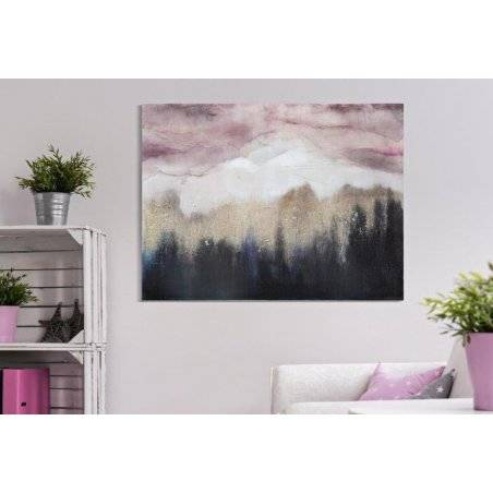 Pink Mountain Canvas Painting Cm 80X2,7X60 - 5