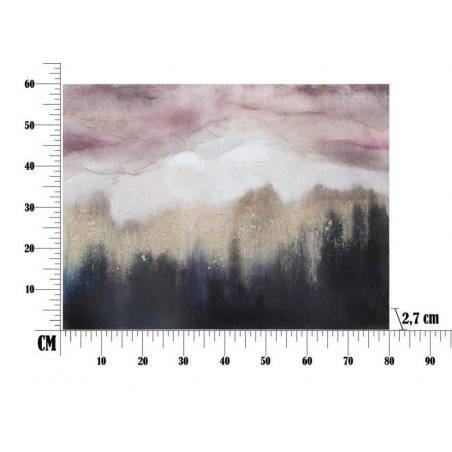 Pink Mountain Canvas Painting Cm 80X2,7X60 - 6