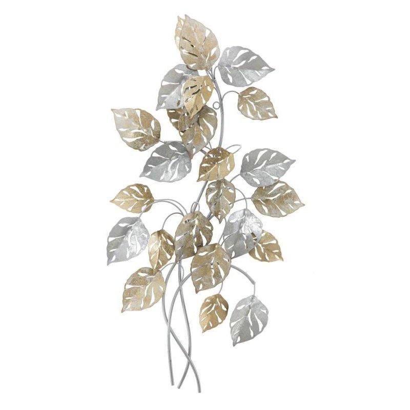 Pannello In Ferro Leaf Cm 50X7