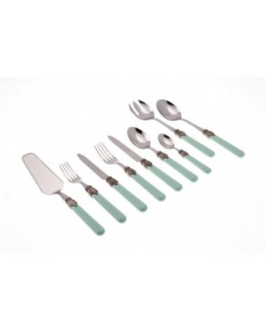 Green Tiffany Shabby Cutlery - Rivadossi Sandro - Classic 75 Pieces Set