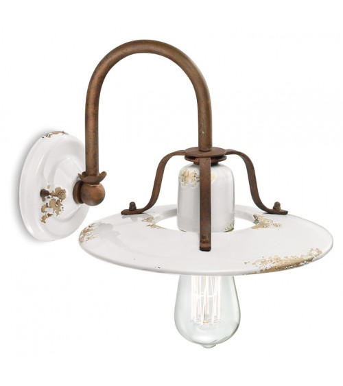 Ferroluce: Vintage Finish Wall Lamp Retrò Collection