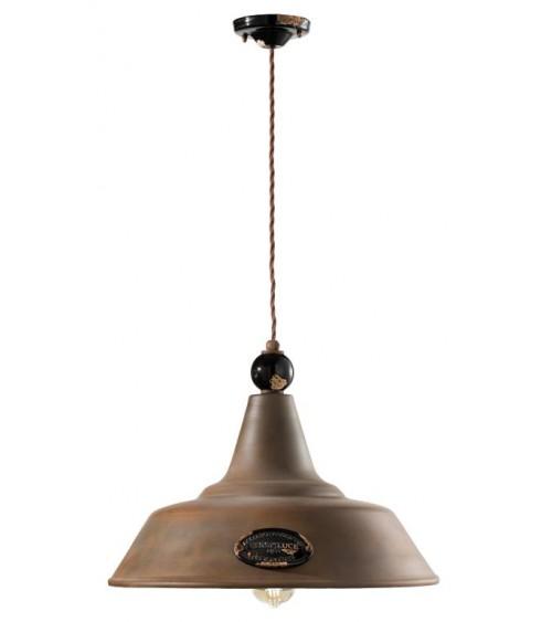 Ferroluce: Antique Suspension Lamp Diameter 45 cm Grunge