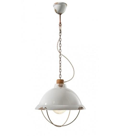 Ferroluce: Suspension Lamp Diameter 40 cm with Industrial Cage