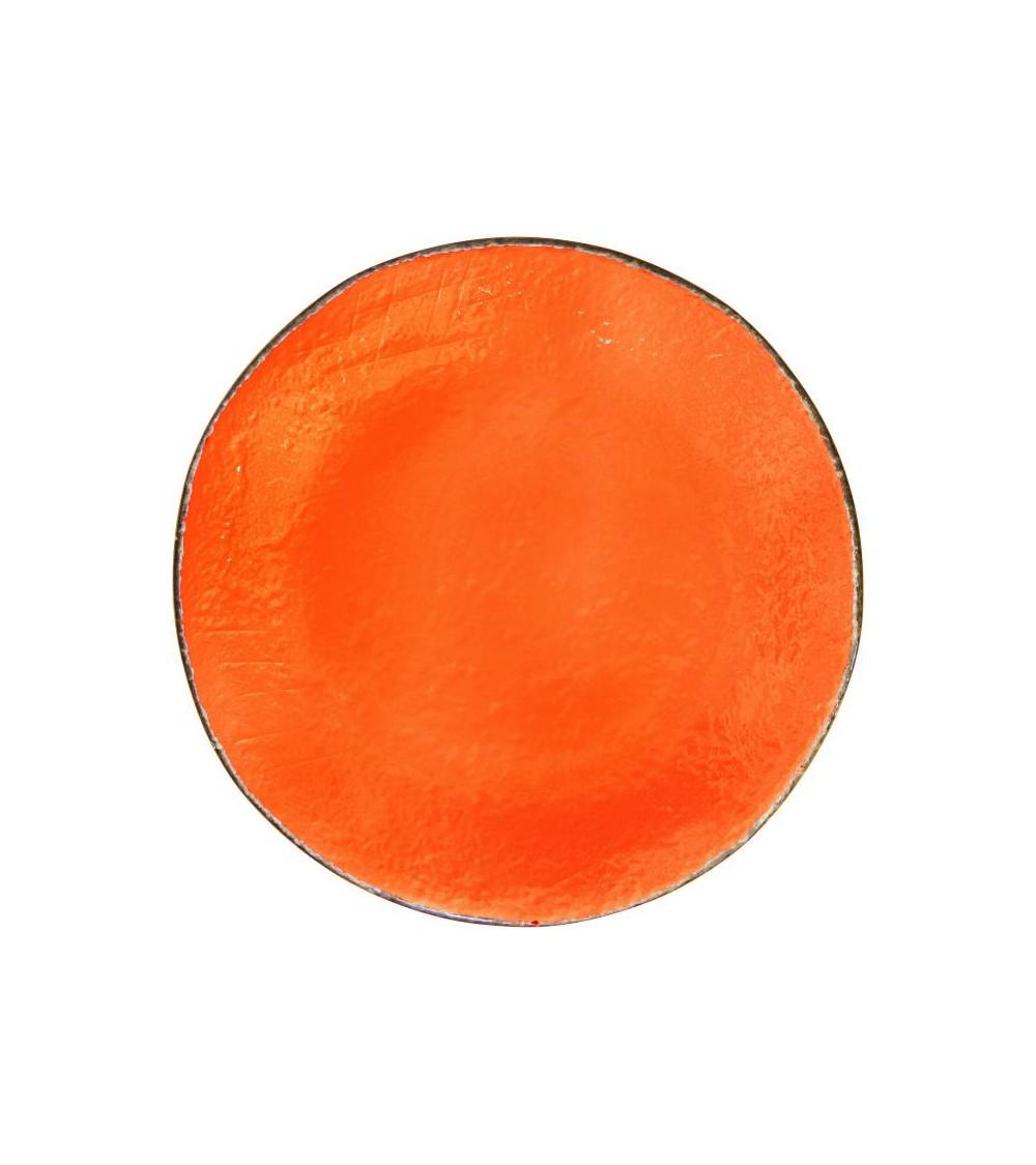 Piatto Piano in Ceramica cm 26 - Set 6 pz - Preta Arancio