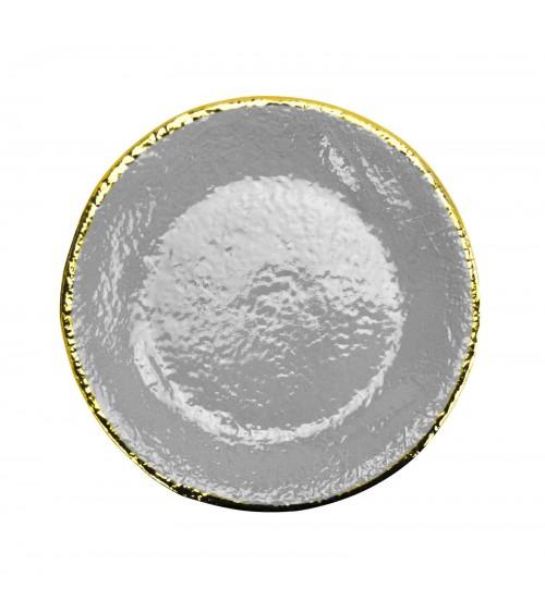Assiette plate en céramique - Set 6 pcs - Preta Oro - Arcucci