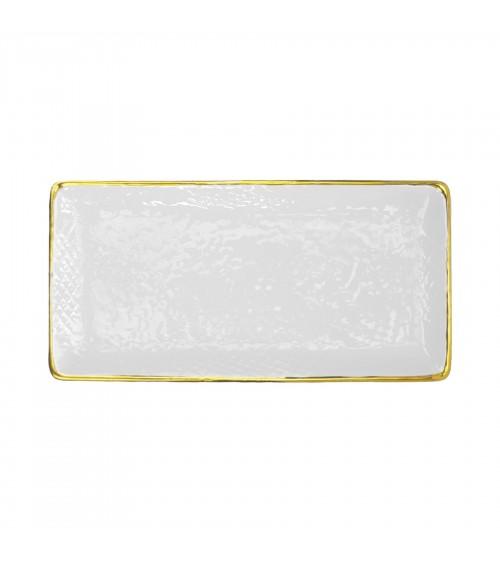 Ceramic Sushi Plate - Set 4 pcs - Preta Oro - Arcucci