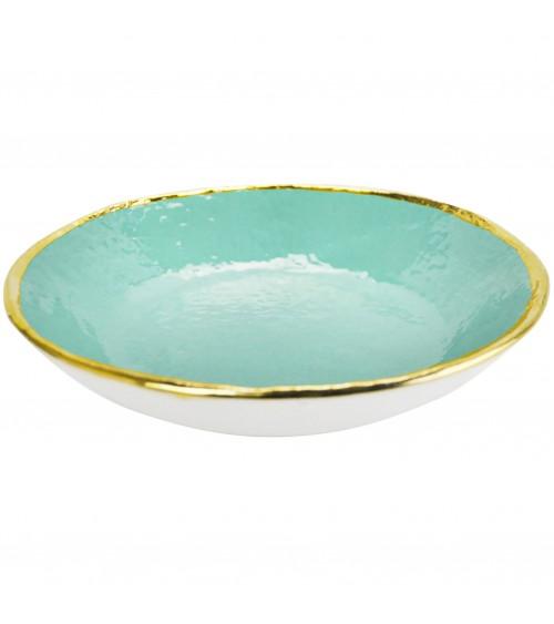 Risottiera in Ceramica - Preta Oro - Arcucci Verde Tiffany
