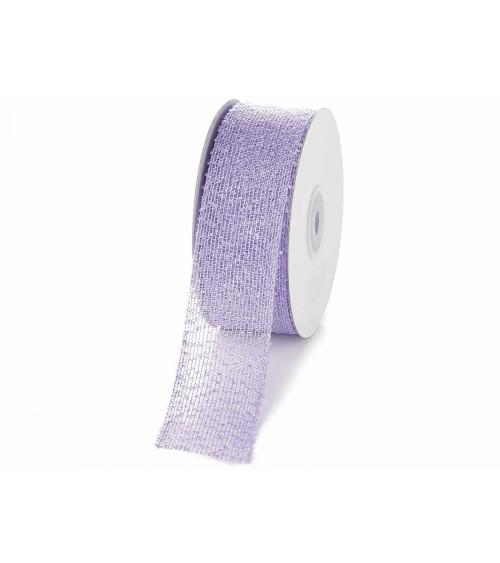 Gauze Effect Mesh Fabric Ribbon for DIY Favors or Gift Packs 38 mm x 10 mt