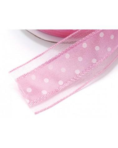 Polka Dot Satin Ribbon for DIY Favors or Gift Packs