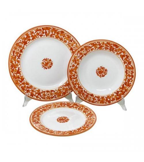 Service de Plats Arabesque pour 4 Personnes - Ceramica Deruta