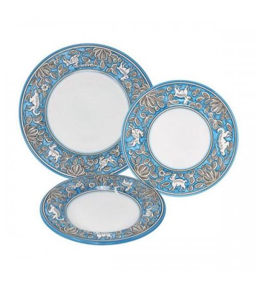 Service de plats de lièvre pour 4 personnes - Ceramica Deruta