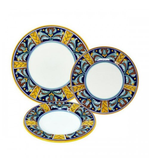 Butterfly Dishes Service For 4 People - Ceramica Deruta
