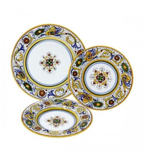 Ensemble d'assiettes lisses Raffaellesco pour 4 personnes - Deruta Ceramics