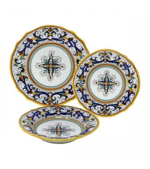 Rich Deruta Dinner Set For 4 People - Deruta Ceramics