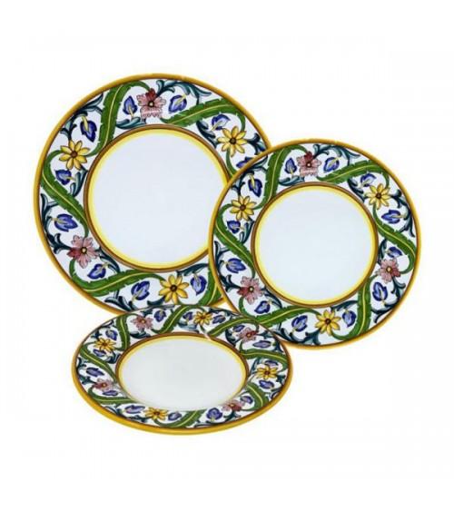 Millefiori Plates Service For 4 People - Ceramica Deruta