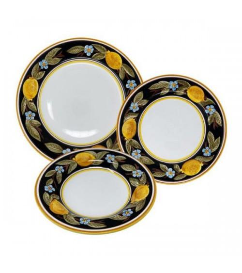 Servizio di Piatti Positano Per 4 Persone - Ceramica Deruta