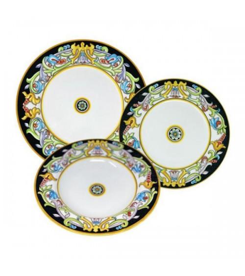Service Plats Genève Pour 4 Personnes - Ceramica Deruta