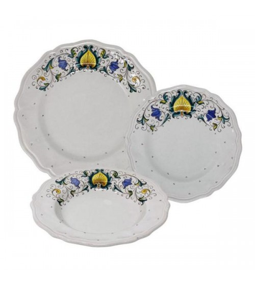 Service de plumes pour 4 personnes - Ceramica Deruta