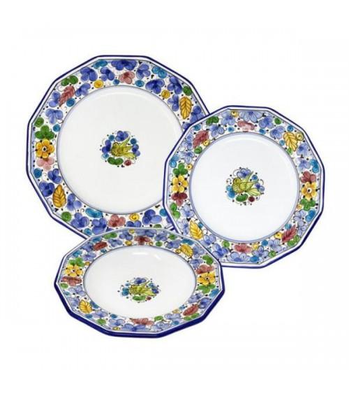 Ensemble de plats arabesque multicolore pour 4 personnes - Ceramica Deruta