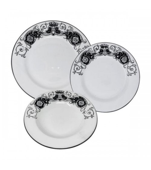 Lace Dishes Service For 4 People - Ceramica Deruta