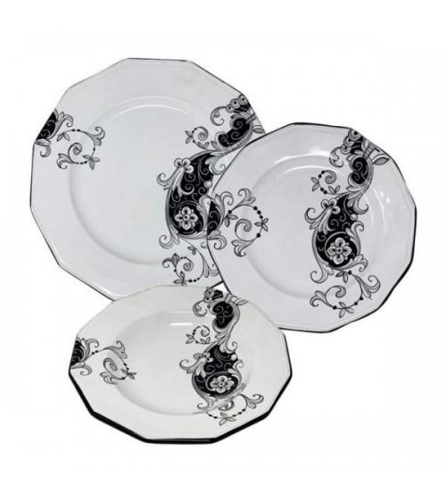 Service de vaisselle de broderie pour 4 personnes - Ceramica Deruta
