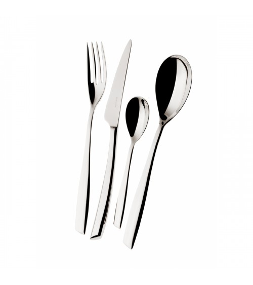 Riviera stainless steel cutlery set 75 pieces with box - Casa Bugatti