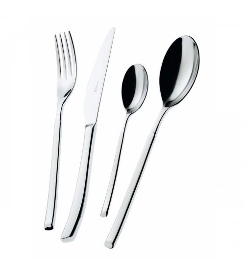 Portofino stainless steel cutlery set 24 pieces with box - Bugatti House