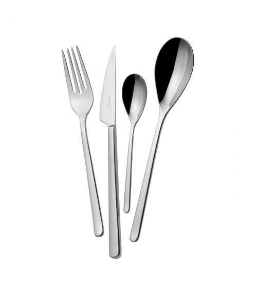 Sintesi stainless steel cutlery set 24 pieces with box - Bugatti Casa