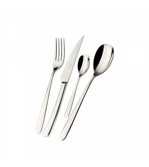 Preludio stainless steel cutlery set 24 pieces with box -Casa Bugatti