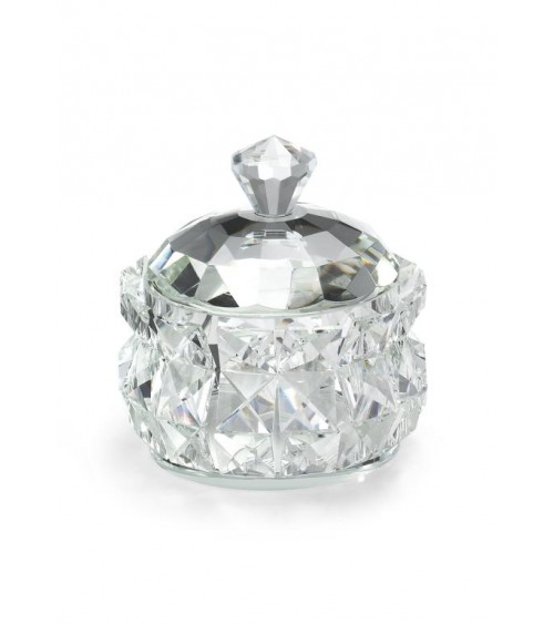 Bomboniera Argenti Fantin - Scatola in Cristallo Diamante Diametro 15 cm