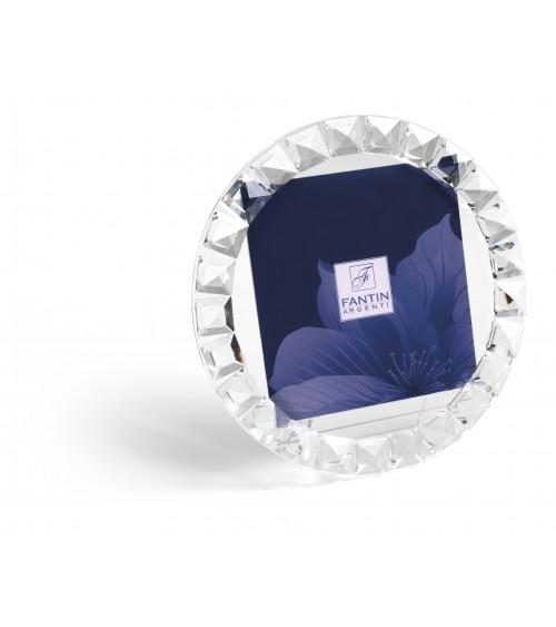 Bomboniera Argenti Fantin - Portafoto in cristallo Rotondo Diametro 22 cm