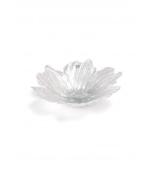 Bomboniera Argenti Fantin - Ciotola Fiore in Vetro Diametro 28 cm Bianco