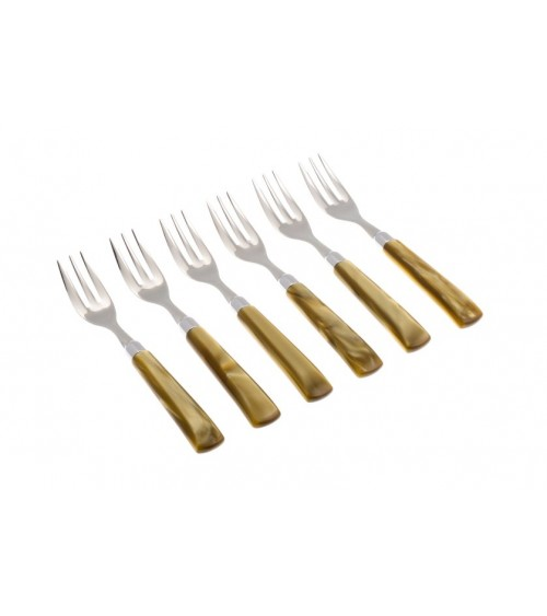 Rivadossi Modern Cutlery: Giada Dessert Forks Set 6 Pieces - 3