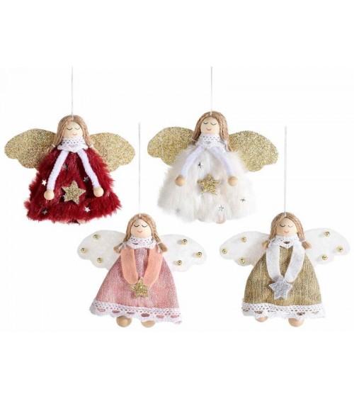 Angeli con Stella Glitterata da Appendere - 12 Pezzi