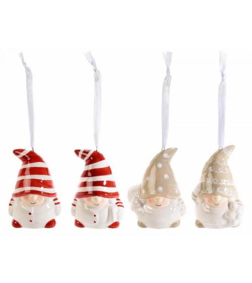 Gnometti in Ceramica Colorata da  Appoggiare - 4 pezzi