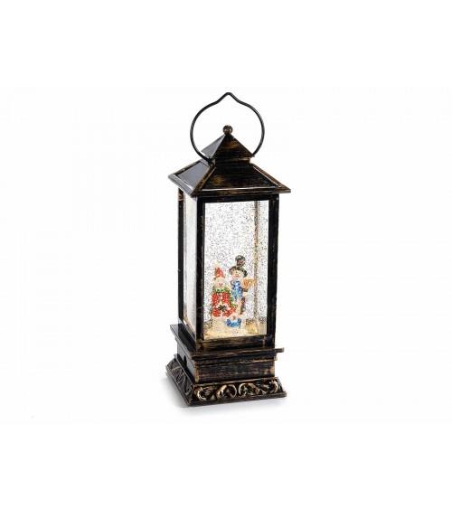 Lanterna Decorativa con Luci Led Glitter in Movimento a Batteria in Scatola Regalo - 1 -