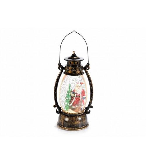 Lanterna Decorativa Ovale con Luci Led Glitter in Movimento a Batteria in Scatola Regalo