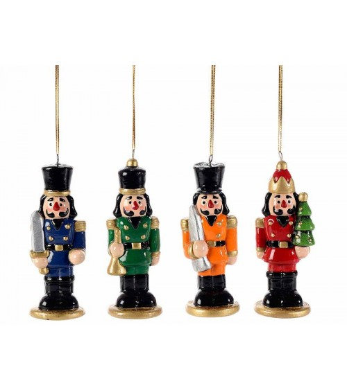 Schiaccianoci Natalizio in Ceramica Colorata da Appendere - 12 Pezzi