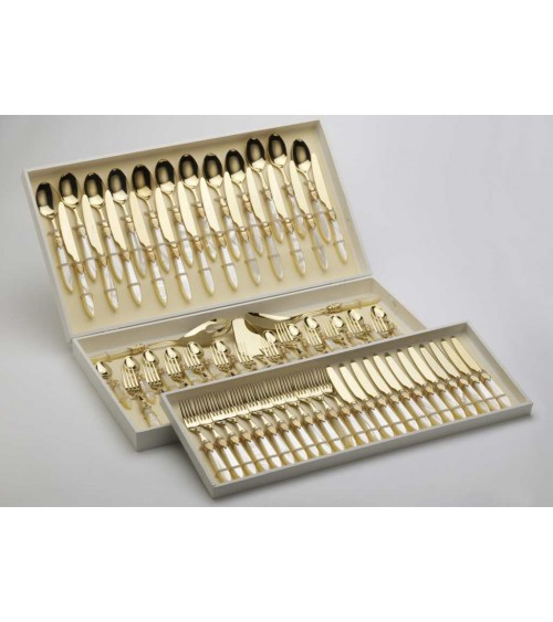Golden Cutlery Set - Vittoria Oro 75pcs - Rivadossi Sandro - 12