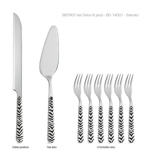Set 8 Pcs Modern Cutlery from Dolce Animalier Zebra