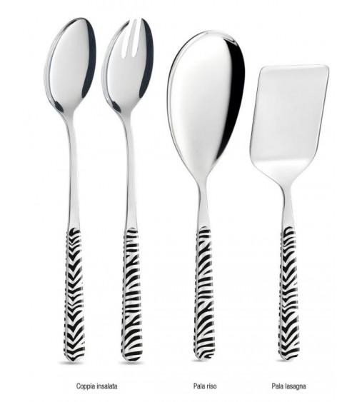 Set 4 Pcs Modern Serving Cutlery - Animalier Zebra