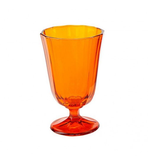Calice Acqua Ana in Vetro Colorato Arancio