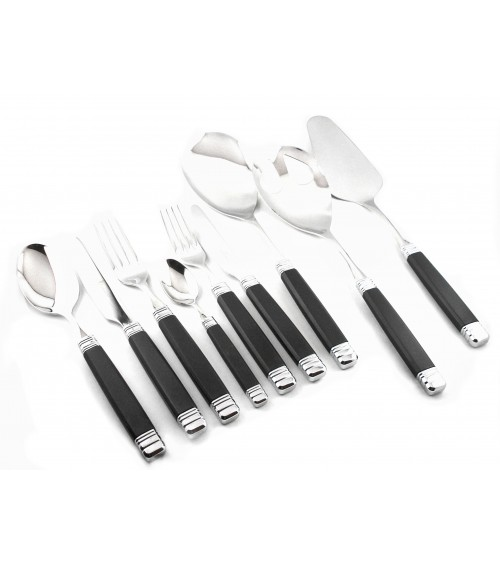 Rossini - Rivadossi Colored Cutlery - set 75 pcs Black