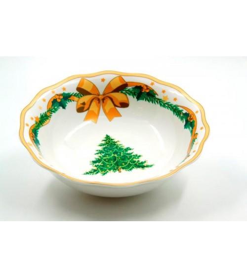 "Insalatiera in Ceramica ""Gold Christmas"" - Royal Family"