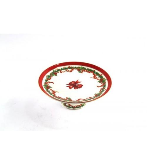 """Alzatina per Dolci Natalizia in Ceramica """"Christmas"""" - Royal Family - 1 -"""