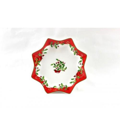 "Pirofila Stella Grande in Ceramica ""Christmas"" - Royal Family"