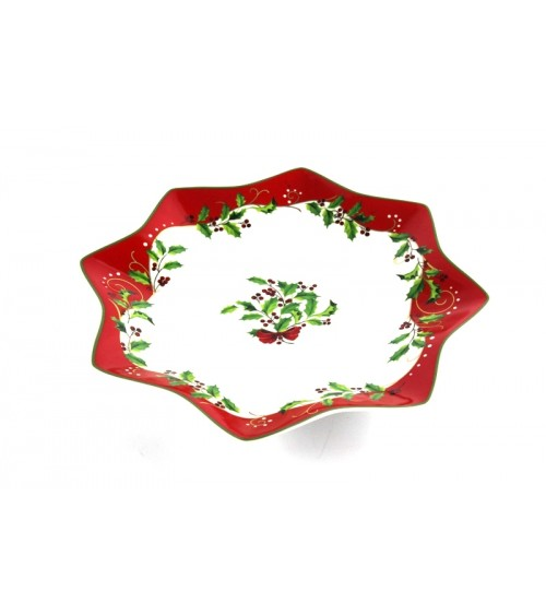 """Christmas"" Ceramic Panettone Plate - Royal Family"
