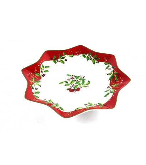 """Piatto Panettone in Ceramica """"Christmas"""" - Royal Family"""