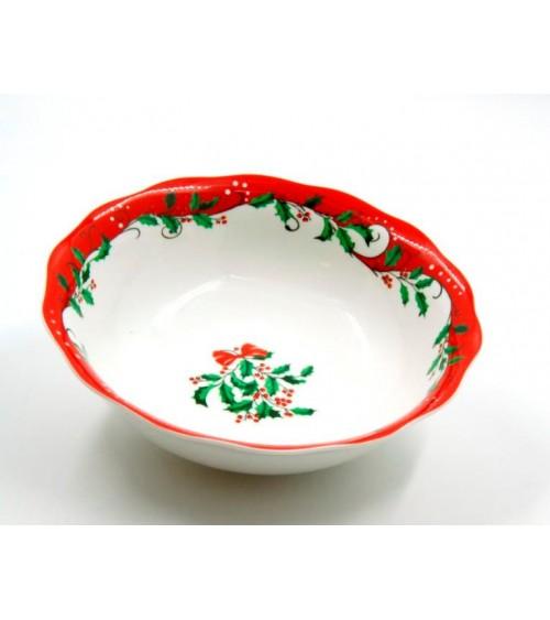 """Christmas"" Ceramic Salad Bowl - Royal Family - 1"