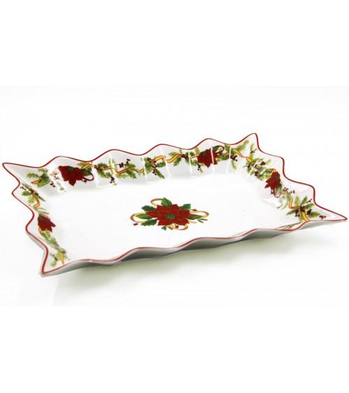 "Rectangular Ceramic Centerpiece ""Stella di Natale"" - Royal Family"